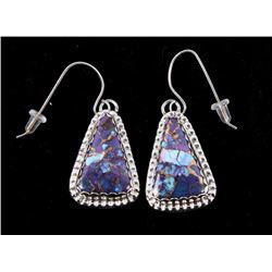 Navajo Herbert Tsosie Mojave & Sterling Earrings