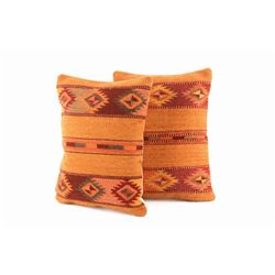 Autumn Medallion Wool Set of Two Pillows by Ruiz