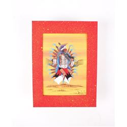 Original Dau-Law-Taine Kiowa Fancy Dancer Painting