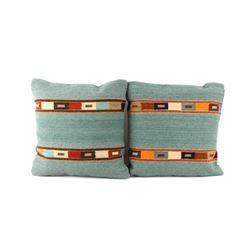 Tipo Peru Jade Churro Wool Set of Two Pillows Ruiz
