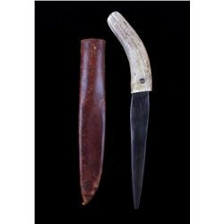 Plains Indians Double Sided Antler Tine Dagger