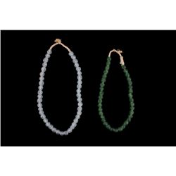 18th C. Dutch Dogon Emerald & Sky Blue Trade Beads