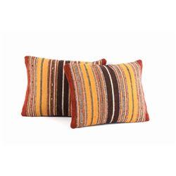 Olas de la Tierra Wool Set of Two Pillows by Ruiz