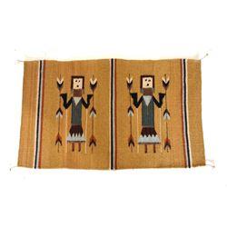 Yei Wool Rug by Master Weaver Pedro Gutierrez