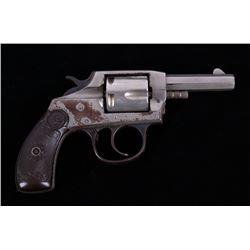 Iver Johnson Nickel DA Model 1900 .32 Cal Revolver