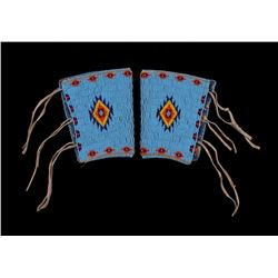 Sioux Fully Beaded Men's Arm Cuff Gauntlets 1950's