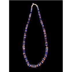Six Layer Chevron Graduating Trade Bead Necklace