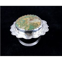Navajo Cerrillos Turquoise & Sterling Silver Ring