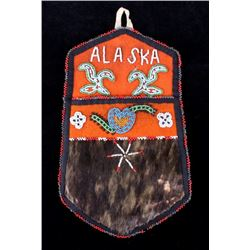 Early-Mid 1900's Athabascan Beaded Wall Hanging