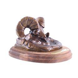 """C.A. Beil """"Banff Bighorn"""" Bronze Sculpture"""