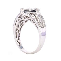 Princess Cut Diamond & 14k White Gold Ring