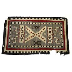 Old Crystal Trading Post Wool Rug c. 1890-1900
