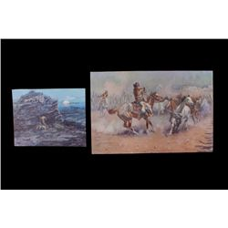 Charles M. Russell Indian Painting Prints c1899