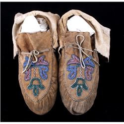 Santee Sioux Beaded Moccasins c. 1930-1940