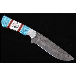 Navajo Dave Yellowhorse Turquoise Bass Knife