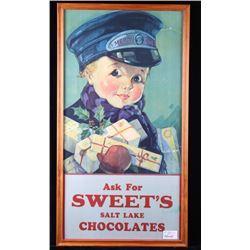 Salt Lake Chocolate Christmas Advertising Sign