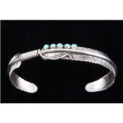 Navajo Chester Charlie Sterling Silver Bracelet