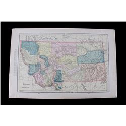 George Cram's Unrivaled Montana Atlas Map 1898