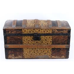 Mid 19th Century Humpback Steamer Trunk