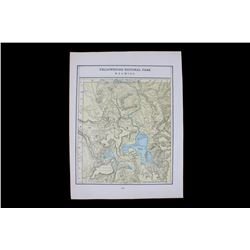 Yellowstone National Park Wyoming Atlas Map 1902