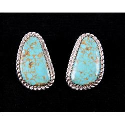 Navajo Tsosie Royston Turquoise Sterling Earrings