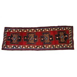 1930's Kashan Persian Hand Knotted Wool Runner Rug