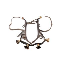 19th Century Horse or Mule Yoke w/ Brass Bells
