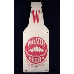 Schirf Brewing Co. Wasatch Beer Advertising Sign