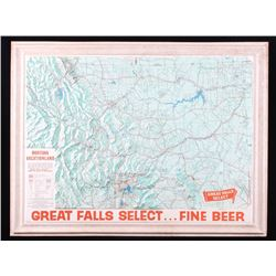 Great Falls Select Beer Montana Topographic Map