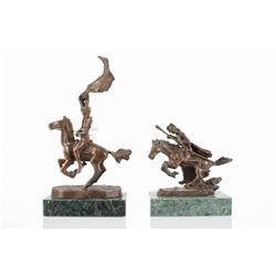 Frederic Remington (1861-1909) Lost Wax Cast Pair