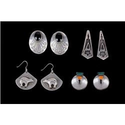 Navajo Sterling Silver Earring & Pin Collection