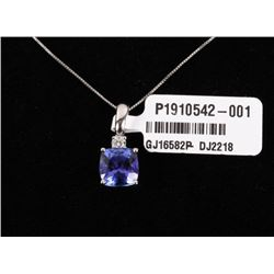 Tanzanite (2.95ct) & Diamond 14K Necklace Pendant