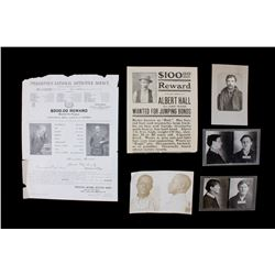Wanted Posters & Prisoner Identification Cards