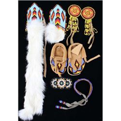 Montana Crow Trade Hand Beaded Item Collection