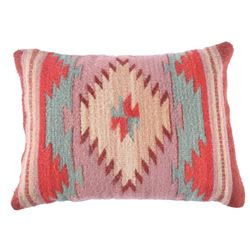 Cuatro Estancias Rojo Verdoso Wool Pillow by Ruiz