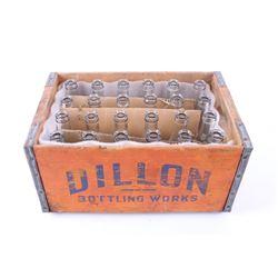 Dillon Bottling Works Crate & Dillon Bottles