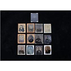 Collection of 13 Ambrotype Photos Circa 1850