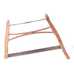 Early 19th Century Wood Framed Buck Bow Saw