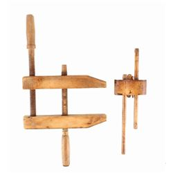 Woodworking Clamp & Wooden Mortise Gauge