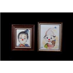 Original Baby Clown Paintings by Julia Reglin