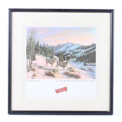 Great Falls Select Deer Country In Winter Print
