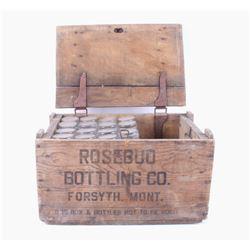 Rosebud Bottling Co. Crate & Glass Bottles