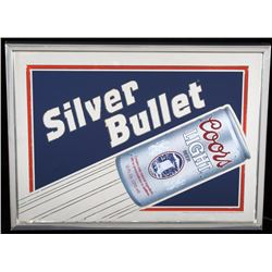 Coors Light Silver Bullet Lightup Advertising Sign