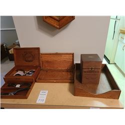 Antique Wooden Boxes A