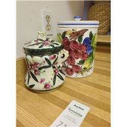 Two Lidded Containers A
