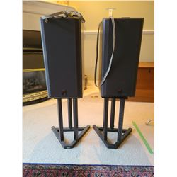 Speakers with Stands B