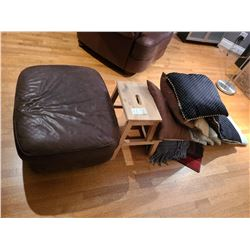 Leather Ottoman and more Cat C