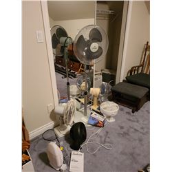 Tall floor fan and table fans Cat A