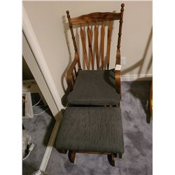 Rocking chair & footstool Cat C