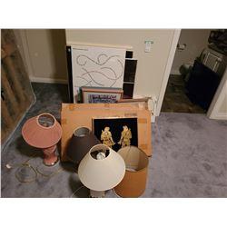 Assortment of Art & Lamps Cat A